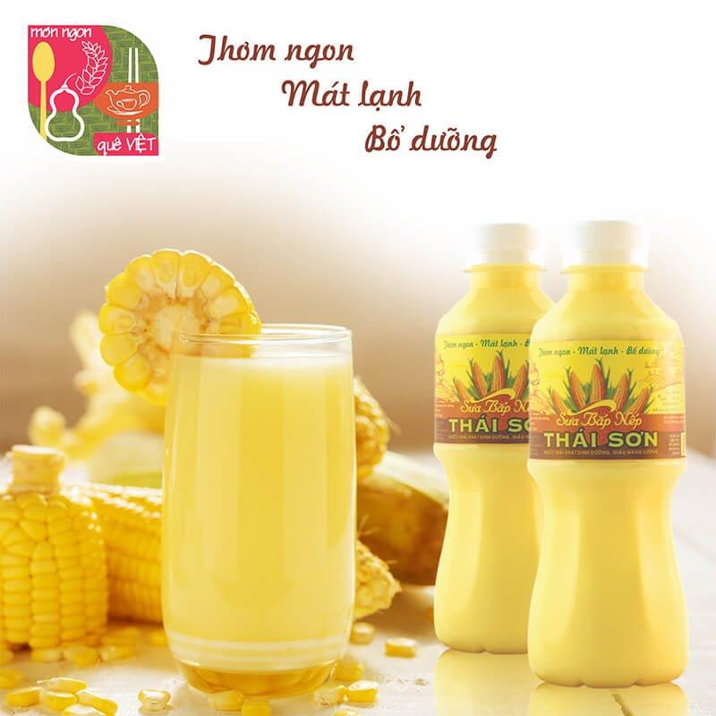 Sữa Bắp Nếp Thái Sơn Một Sản Phẩm Giàu Dinh Dưỡng Từ Bắp Tươi Vừa Thu Hoạch